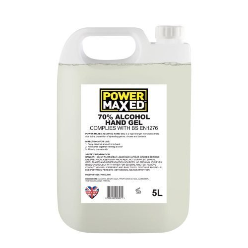 Power Maxed Hand Sanitiser Gel 5ltr