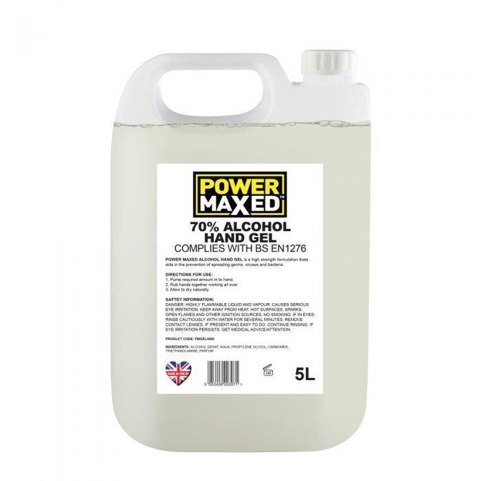 Power Maxed Hand Sanitiser Gel 5ltr
