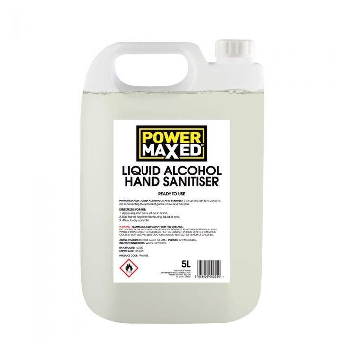 Power Maxed Hand Sanitiser liquid 5ltr