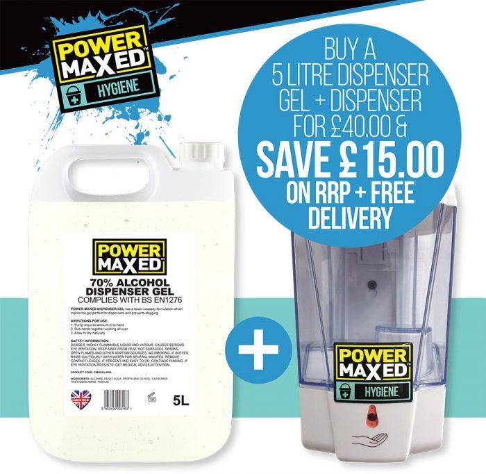 Power Maxed Gel dispenser offer