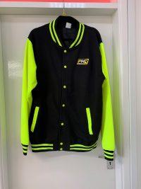 Power Maxed Neon Yellow Baseball Jacket